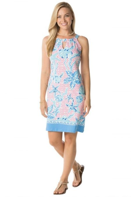 11a19-sea-pattern-print-knit-keyhole-shift-dress-pink-blue