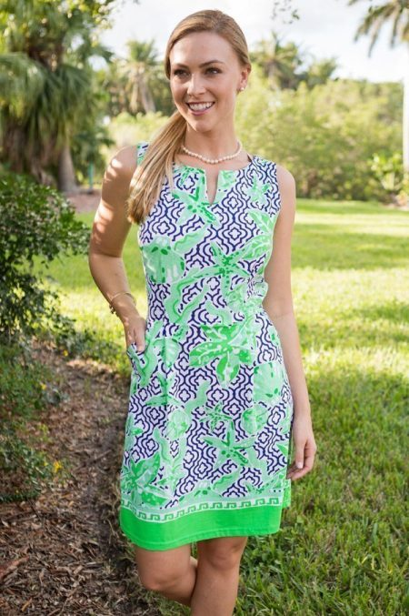 13a19-sea-pattern-print-sleeveless-boardwalk-dress-navy-green