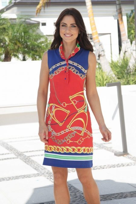 46h93-derby-days-print-sleeveless-ruffle-neck-polo-dress-red-navy