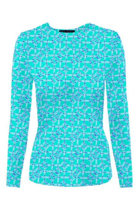 83d55-nauti-knots-print-nylon-crew-neck-long-sleeve-top-mint-blue