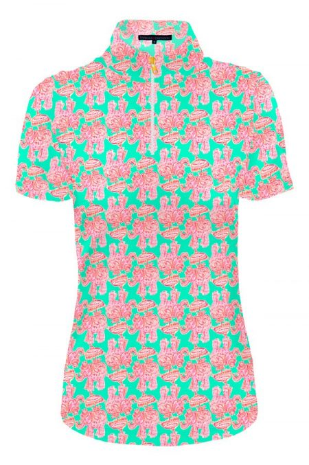 85d51-belle-print-nylon-short-sleeve-mock-neck-top-jade-pink