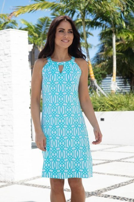 amelia-print-knit-keyhole-shift-dress-11g82-turq-2