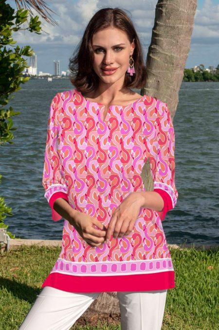 20c42-flamingo-beach-print-knit-tunic-coral-pink