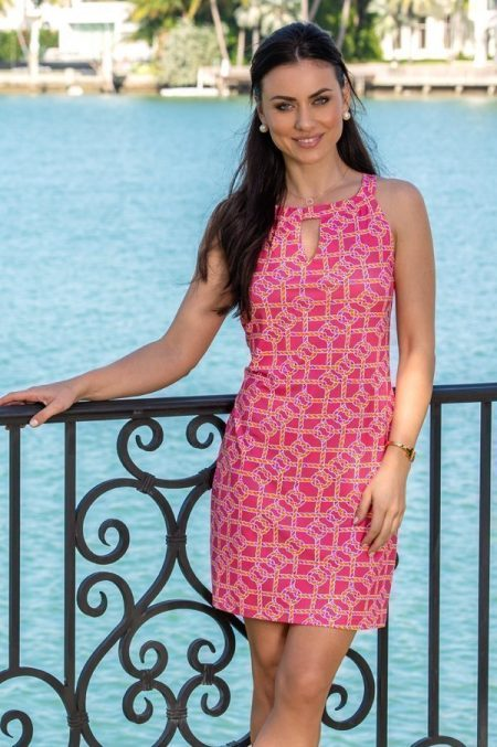 11d55-nauti-knots-print-nylon-keyhole-shift-dress-flamingo-orange