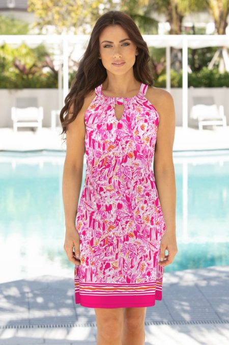 11g79-oceanica-print-cotton-knit-keyhole-shift-dress-pink coral